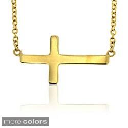 Pretty Plus Sterling Silver Sideways Cross Necklace