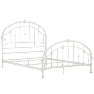 Lacey Round Curved Double Top Arches Victorian Iron Metal Bed by TRIBECCA HOME