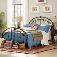 Lacey Round Curved Double Top Arches Victorian Iron Bed by iNSPIRE Q Classic
