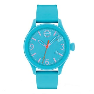 ESQ by Movado 'ESQ ONE' Blue Silicone Strap Watch
