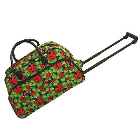 World Traveler Lady Bug 21-inch Carry-on Rolling Duffel Bag