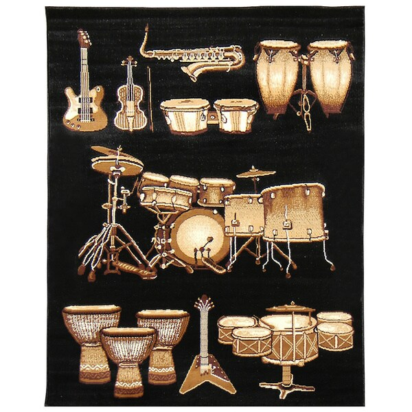 African Adventure Drums 3 Area Rug (5' x 7')