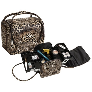 Seya Tiger Leopard Roll Top Makeup Case
