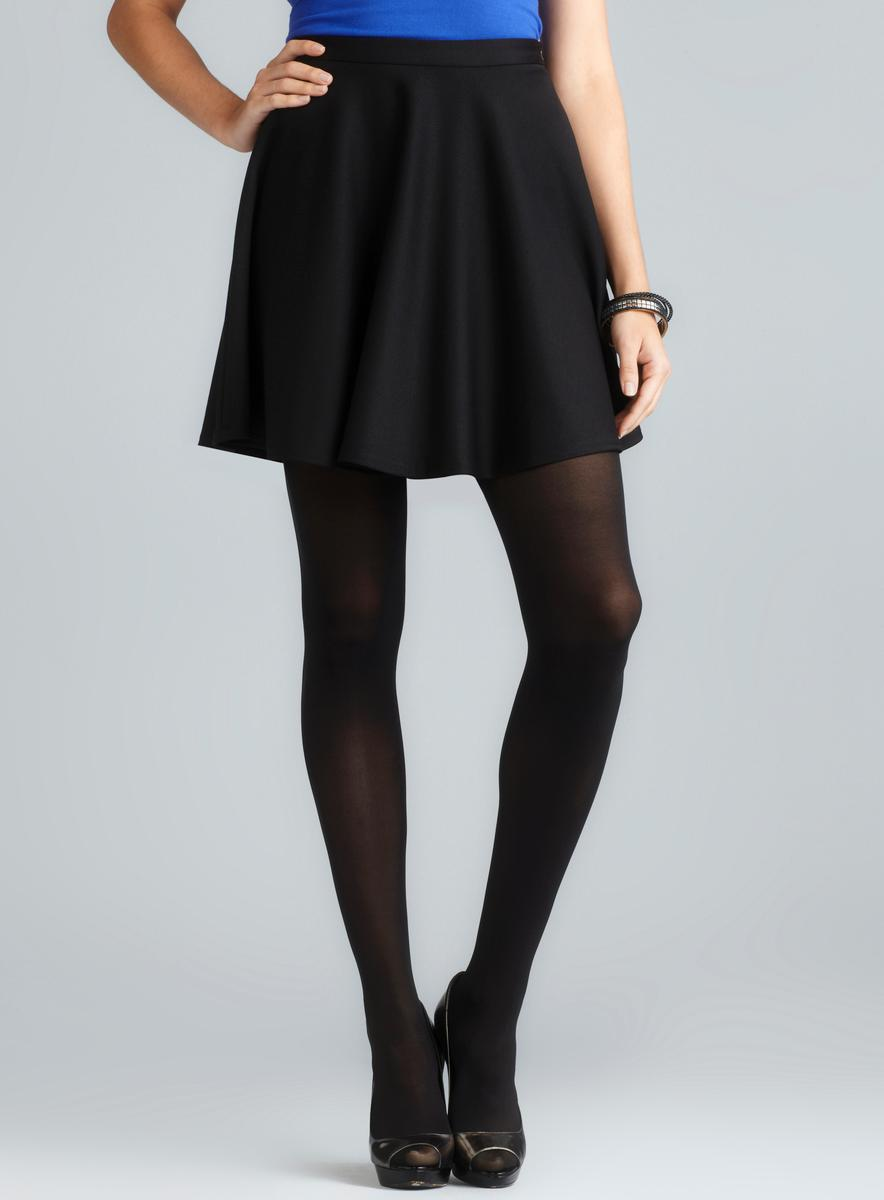 Love Ady Black Ponte Skater Skirt