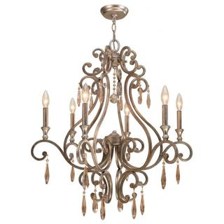 Crystorama Shelby 6-light Distressed Twilight Chandelier