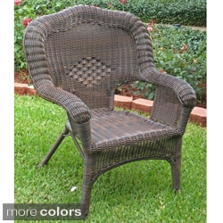 International Caravan Chelsea Resin Wicker/ Steel Patio Dining Chairs (Set of 2)