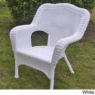 International Caravan Chelsea Resin Patio Dining Chair (Set of 2)