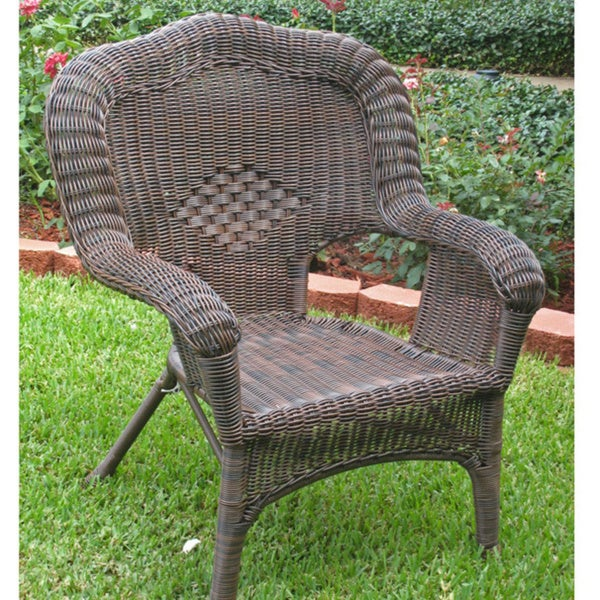caravan chelsea resin wicker steel patio dining chairs set of 2