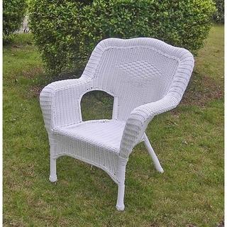 International Caravan Chelsea Resin Wicker/ Steel Patio Dining Chairs (Set of 2)