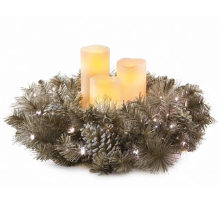 LED Wreath with Flameless Candles