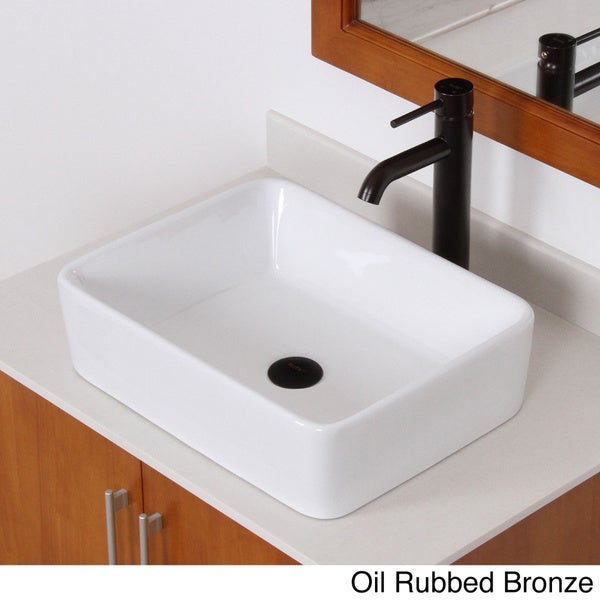 Elite Hightemperature Rectangular Ceramic Bathroom Sink And - Bathroom drain