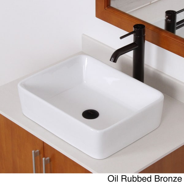 Bathroom Sinks Overstock elite high-temperature rectangular ceramic bathroom sink and