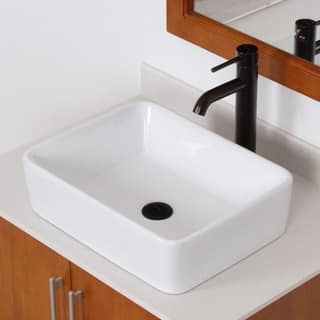 Elite High-temperature Rectangular Ceramic Bathroom Sink and Faucet Combo|https://ak1.ostkcdn.com/images/products/8303259/P15620240.jpg?impolicy=medium