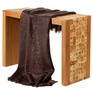 Mohair Angora Grey Throw Blanket