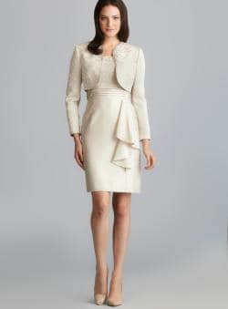 Images of Champagne Jacket Dress - Reikian