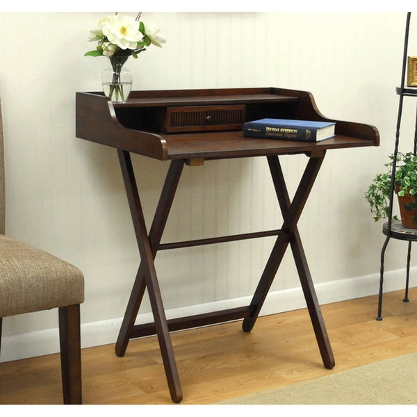 Landon Chestnut Folding Desk - Free Shipping Today - Overstock.com