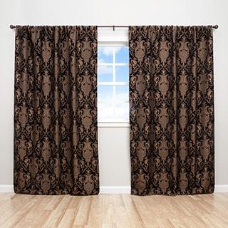 Sherry Kline China Art Black 84-inch Luxury Jacquard Curtain Panel Pair