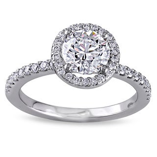 Miadora Signature Collection 18k White Gold 1 1/6ct TDW Certified Diamond Ring (GIA)