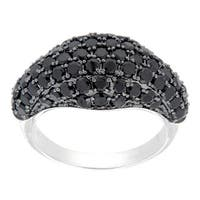 Pearlz Ocean Sterling Silver Black Spinel Cluster Ring Jewelry for Womens