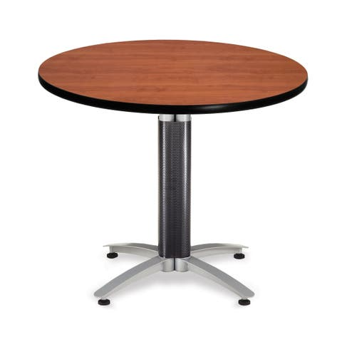 "OFM Core Collection 36"" Multi-Purpose Round Table with Metal Mesh Base (KMT36RD)"