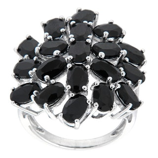 Pearlz Ocean Sterling Silver Black Spinel Fashion Ring