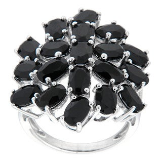 Pearlz Ocean Sterling Silver Black Spinel Fashion Ring Jewelry for Womens