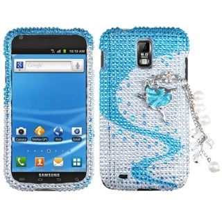 INSTEN Premium 3D Diamante Phone Case Cover for Samsung T989 Galaxy S II