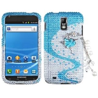 INSTEN Premium 3D Diamante Phone Case Cover for Samsung T989 Galaxy S II