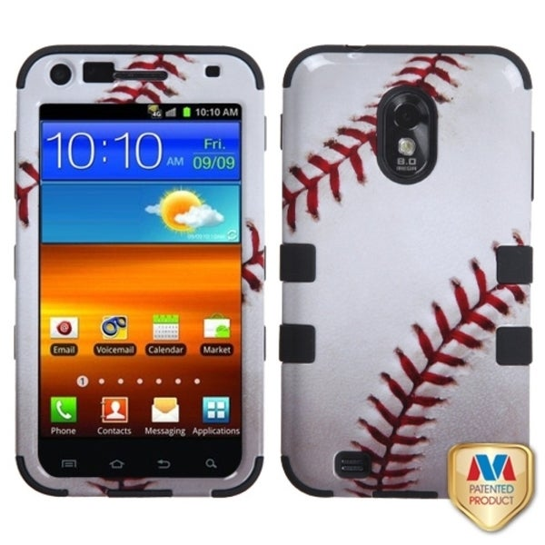 INSTEN Baseball/ Black TUFF Phone Case Cover for Samsung R760 Galaxy S2