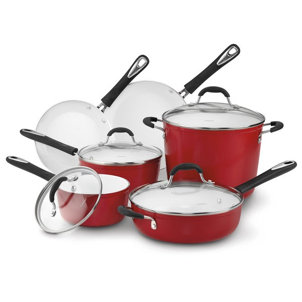 Cuisinart Elements Red Non-stick 10-piece Cooking Set