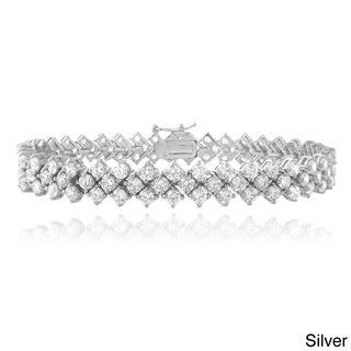 Icz Stonez Rhodium-plated Cubic Zirconia Bracelet