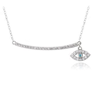 Icz Stonez Sterling Silver Cubic Zirconia Evil Eye Necklace