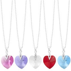 Fremada Rhodium-plated Sterling Silver Heart Necklace