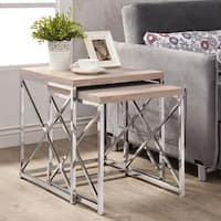 Clay Alder Home Pacific Natural Reclaimed-look Chrome Metal 2-piece Table