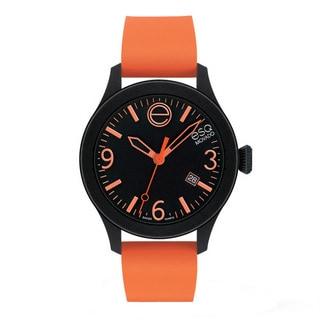 ESQ Movado Unisex 'ESQ ONE' Black/ Orange Watch