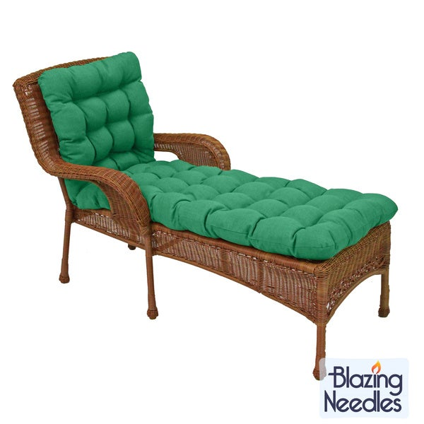 Shop Blazing Needles 74 Inch Spun Poly Chaise Lounge Outdoor Cushion