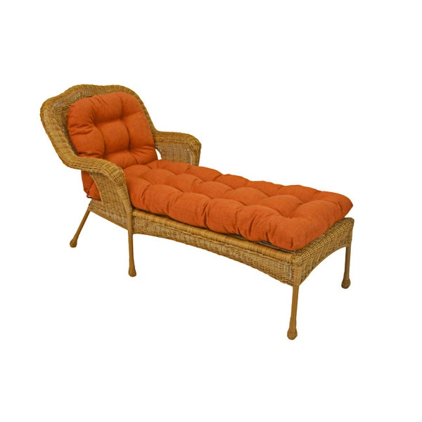 Blazing Needles 69 Inch Spun Poly Chaise Lounge Outdoor