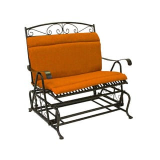 Blazing Needles Spun Poly Double Glider Chair Outdoor Cushion