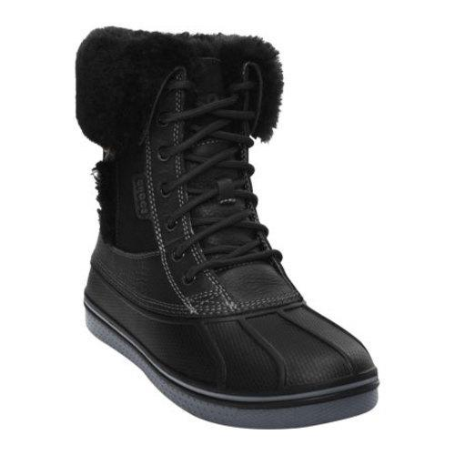 fb15f090c Shop Women s Crocs AllCast Luxe Duck Boot Black Charcoal - Free Shipping  Today - Overstock - 8304394