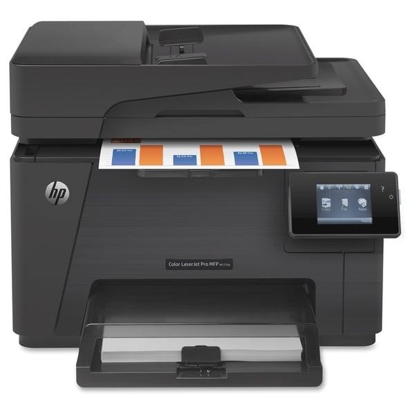 HP LaserJet Pro M177FW Laser Multifunction Printer - Color - Plain Pa