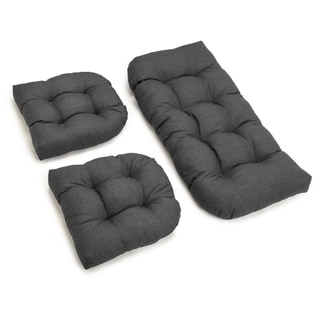 Blazing Needles 3-Piece Solid Settee Cushion Set (Set of 3)