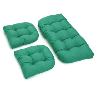 Blazing Needles All-Weather U-Shape Outdoor Settee Cushions (Set of 3) (4 options available)