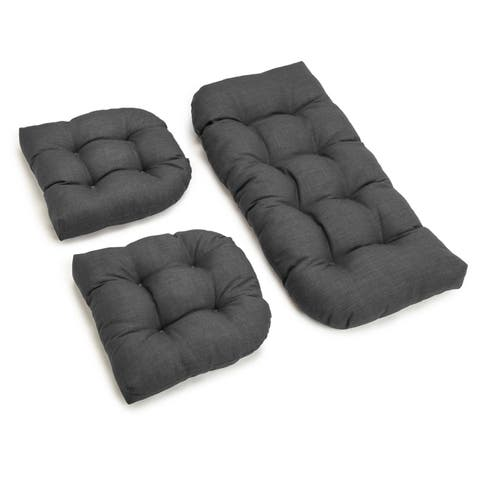 Blazing Needles All Weather Bench Cushion Set Of 3