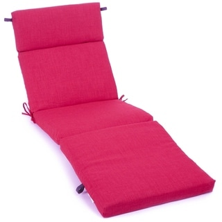 Blazing Needles 72-inch All-Weather Chaise Lounge Cushion (Bery Berry)