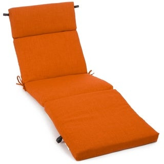 Blazing Needles 72-inch All-Weather Chaise Lounge Cushion (Tangerine Dream)