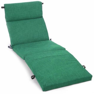 Blazing Needles 72-inch All-Weather Chaise Lounge Cushion (Emerald)