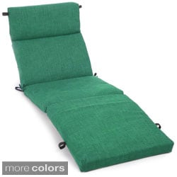Blazing Needles 72-inch All-weather Solid Outdoor Chaise Lounge Cushion