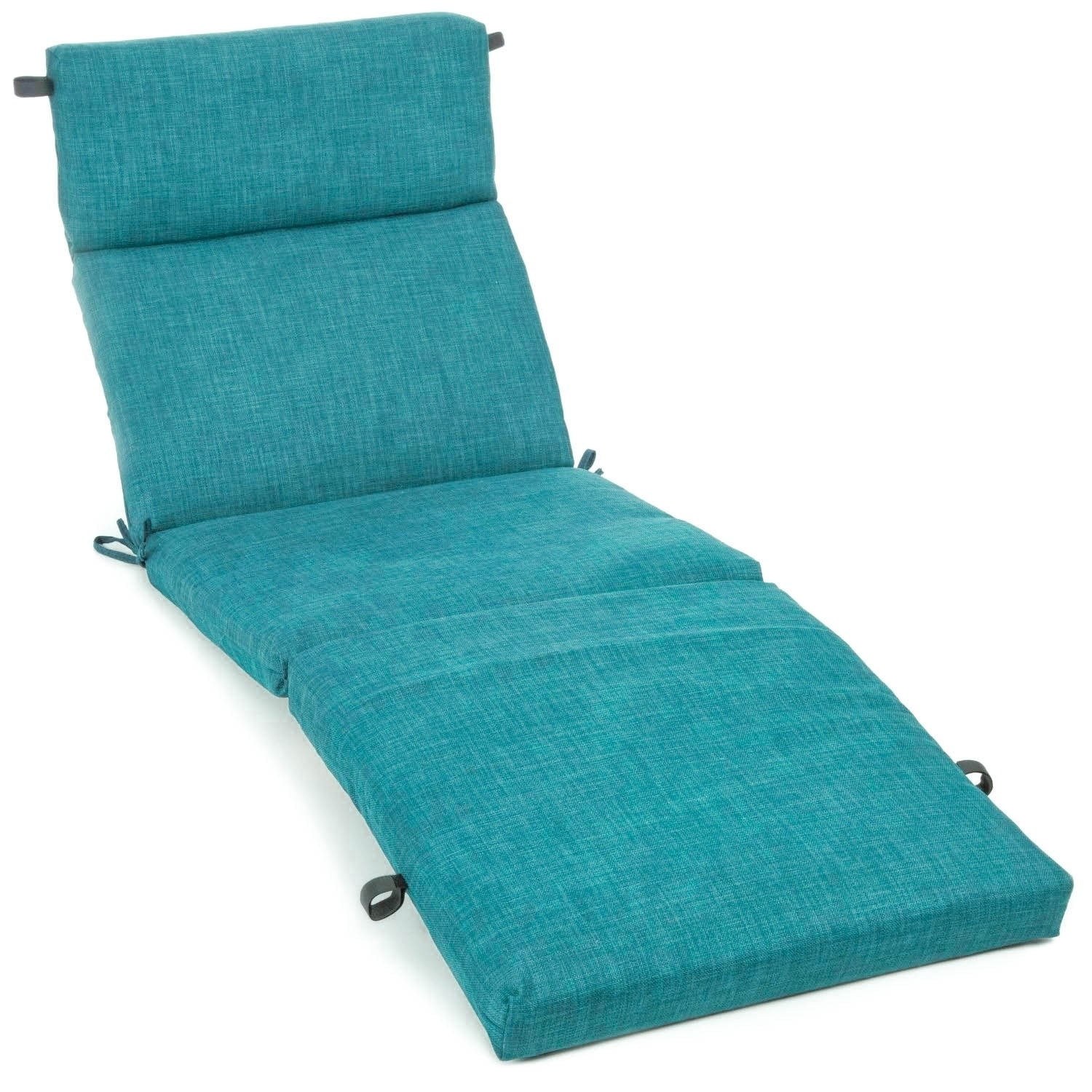 Blazing Needles 72-inch All-Weather Chaise Lounge Cushion (Cool Grey)