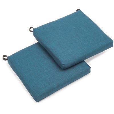 Blazing Needles Indoor/ Outdoor Chair Cushions (Set of 2)