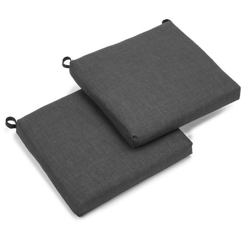 Blazing Needles Indoor/Outdoor Chair Cushions (Set of 2)